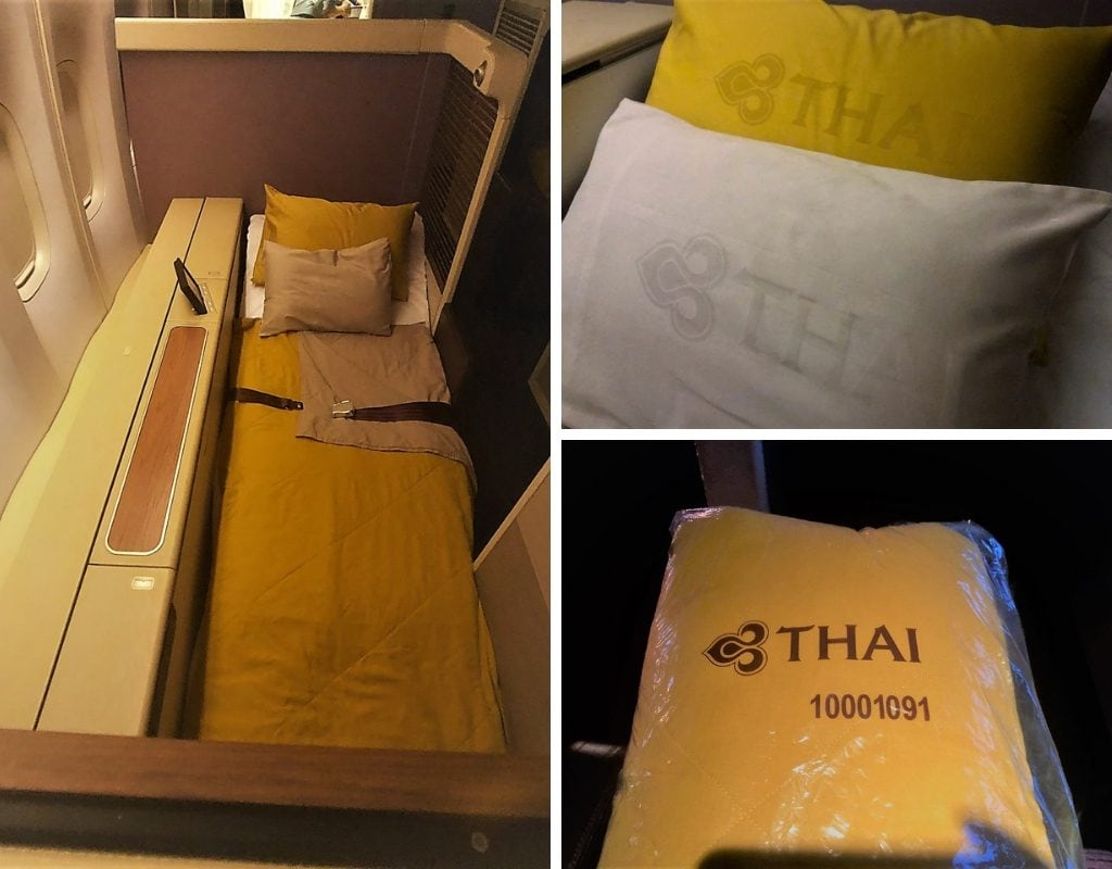 thai airways first class bedding