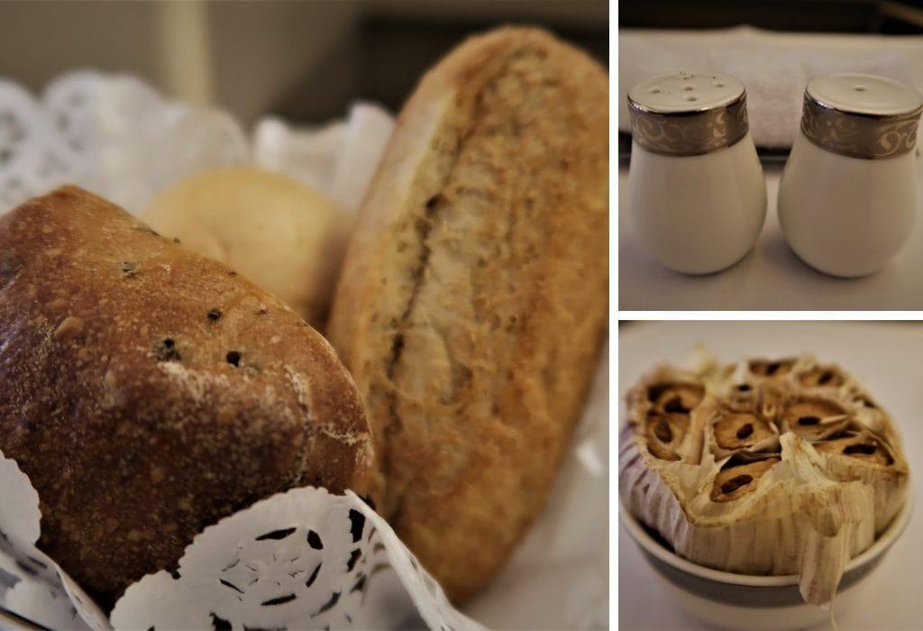 Thai Airways first class food bread