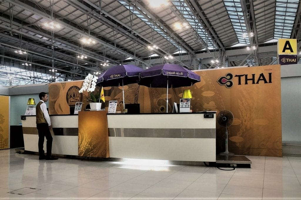 thai airways first class check-in suvarnabhumi airport
