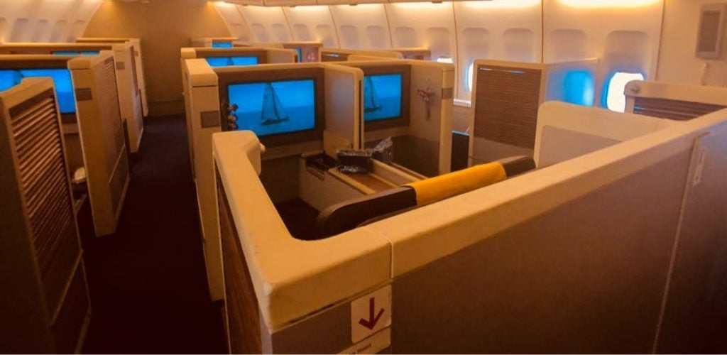 Thai Airways 747 First Class Cabin