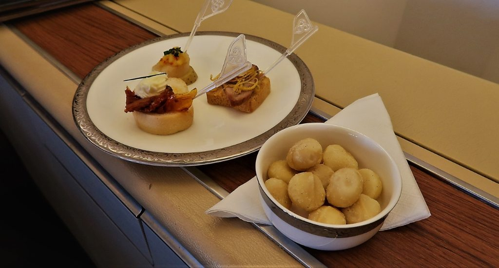 Thai Airways First Class canapes