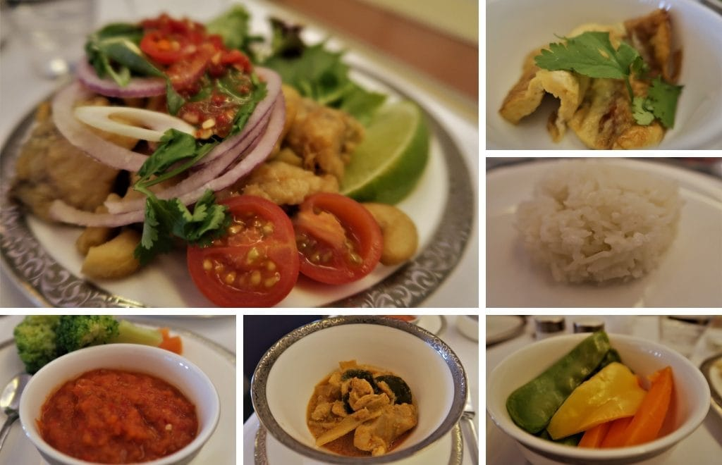 Thai Airways Samrat Thai main course