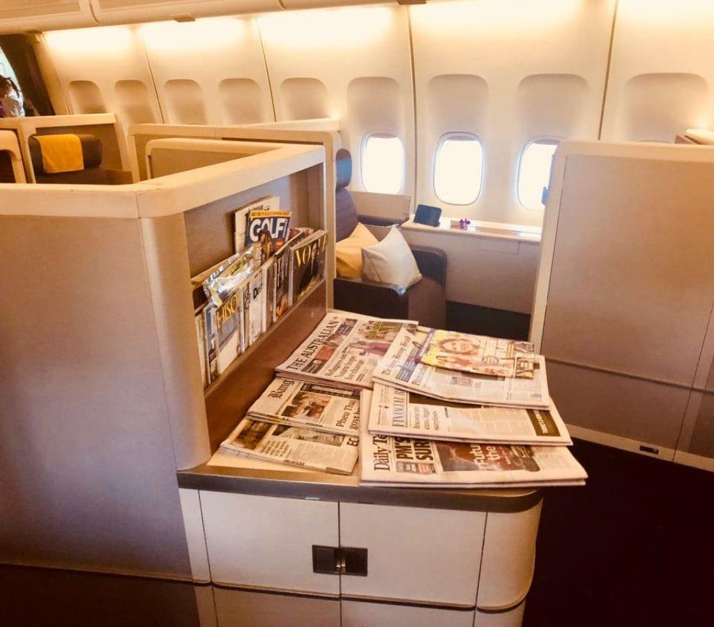 Thai Airways 747 First Class Cabin