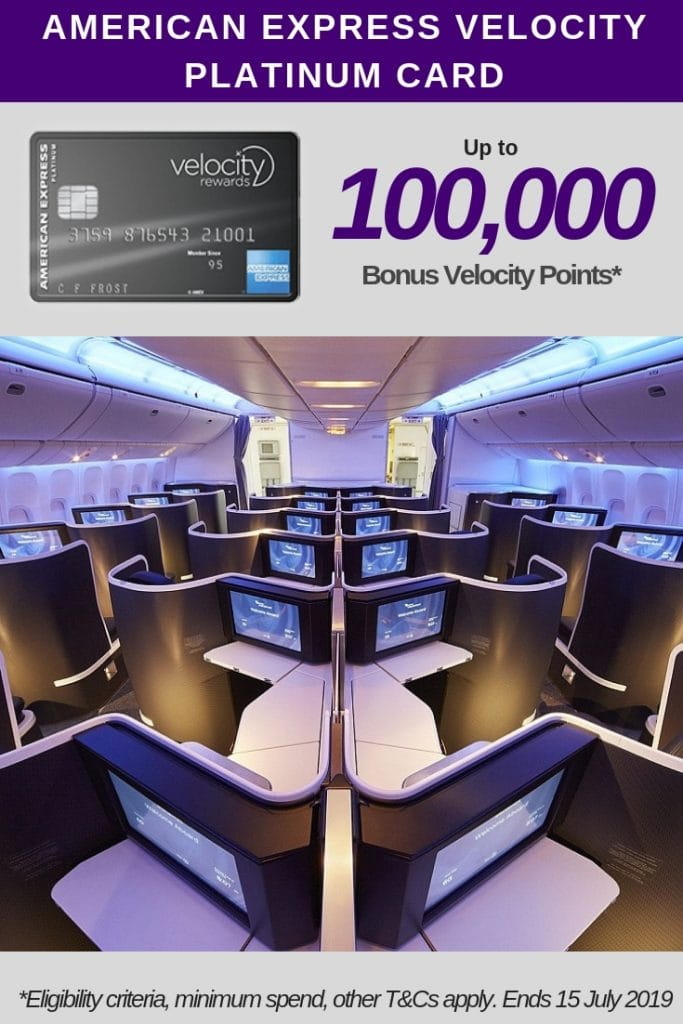 American Express Velocity Platinum Card 100,000 bonus points
