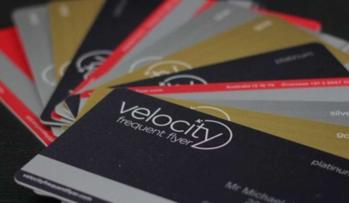 Velocity Frequent FLyer loyalty scheme card fan