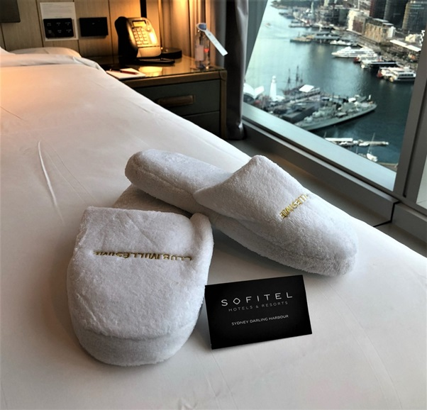 sofitel bed and slippers