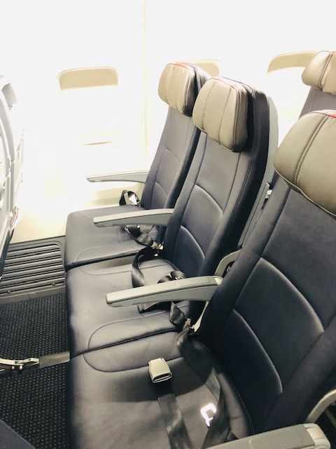 American Airlines Coach Class Review seat row