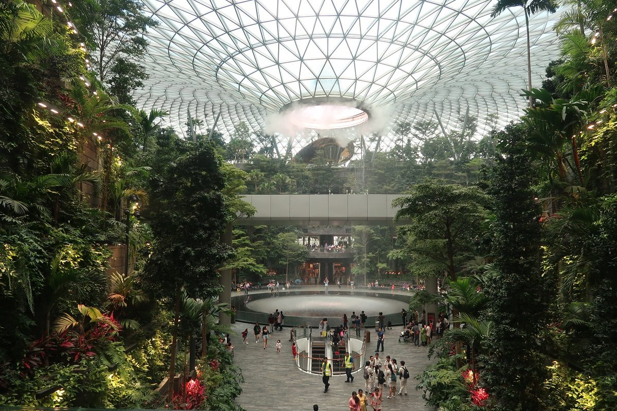 Jewel Changi Singapore Airport big entry
