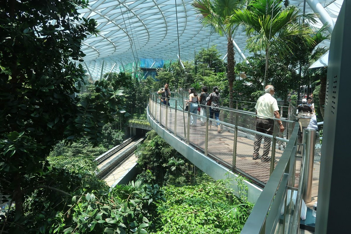 Jewel Changi Singapore Airport glass walkway