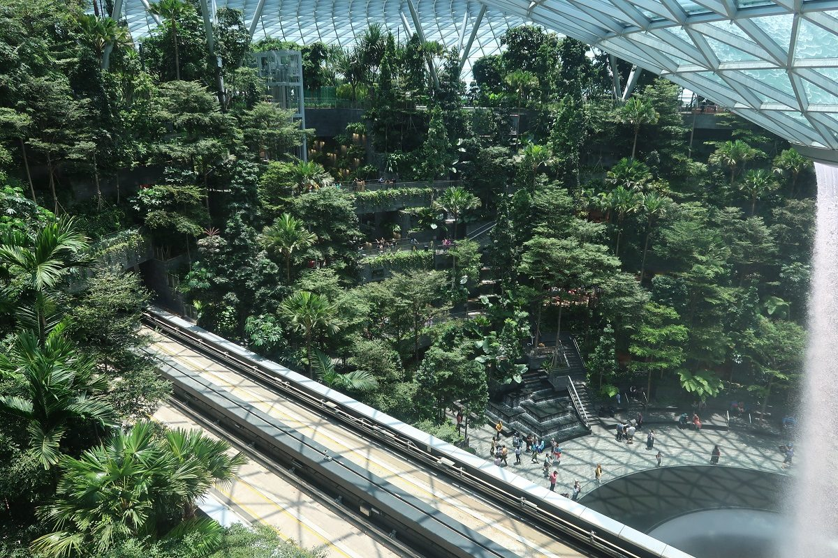 Jewel Changi Singapore Airport skytrain
