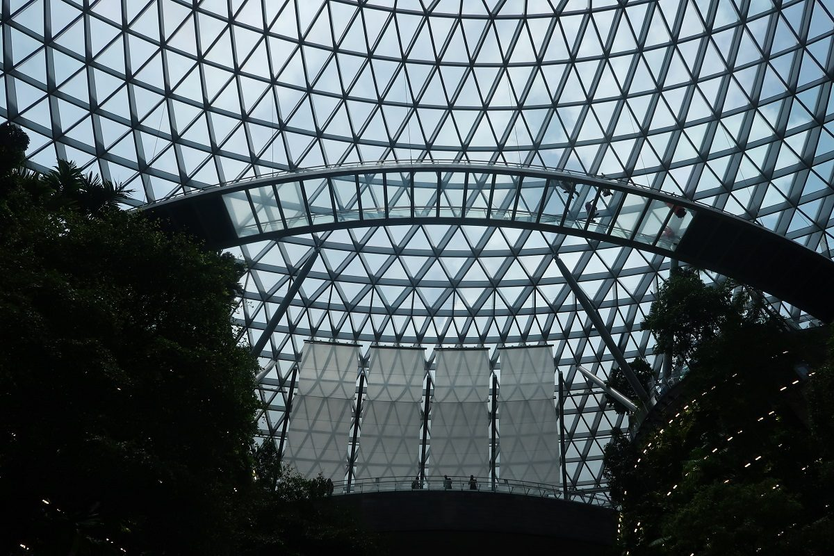 Jewel Changi Singapore Airport canopy bridge