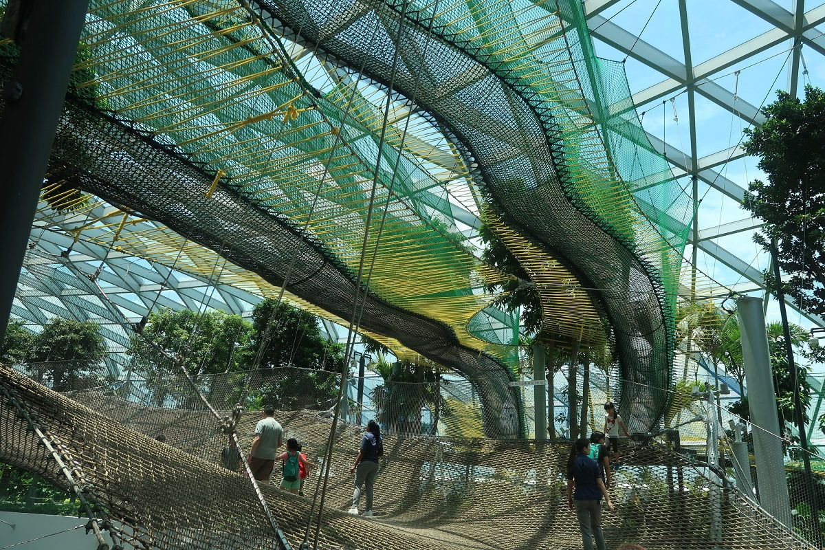Jewel Changi Singapore Airport sky nets
