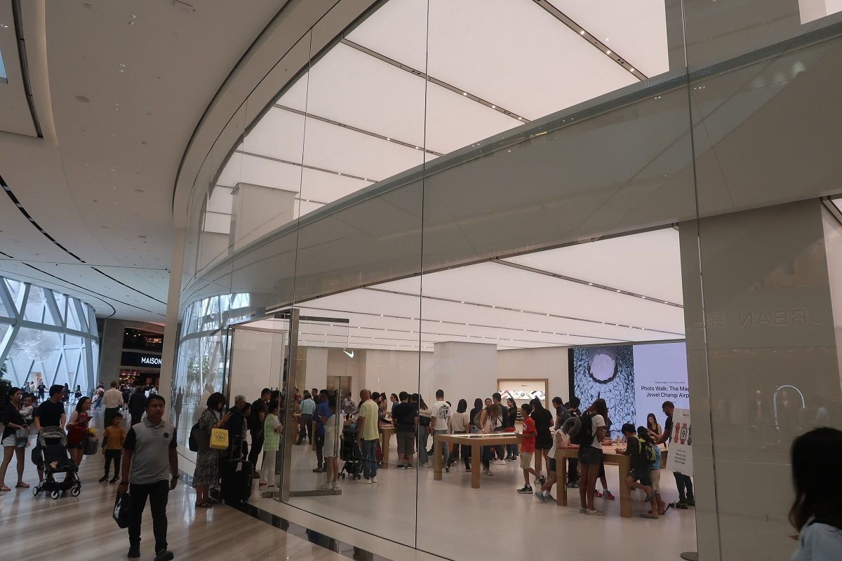 Jewel Changi Singapore Airport Apple shop