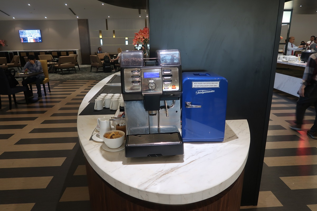 Malaysia Airlines KL Golden Lounge Satellite Terminal coffee