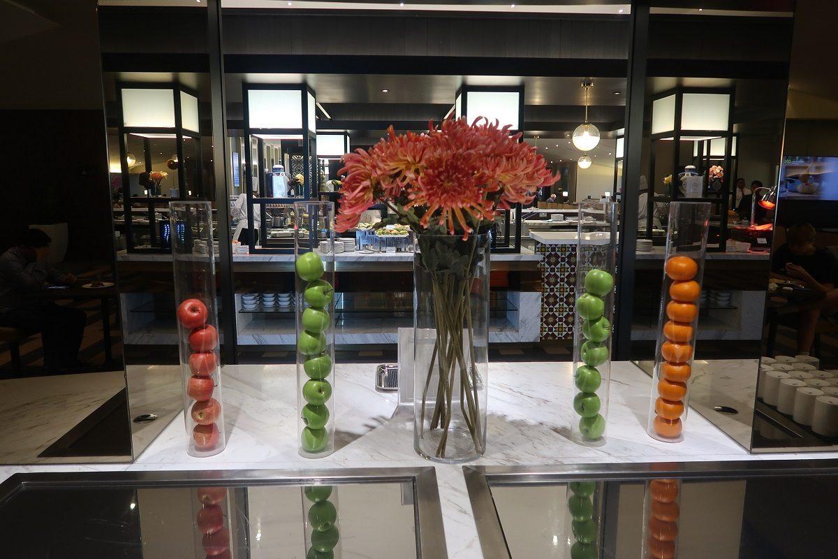 Malaysia Airlines KL Golden Lounge Satellite Terminal food fruit tubes