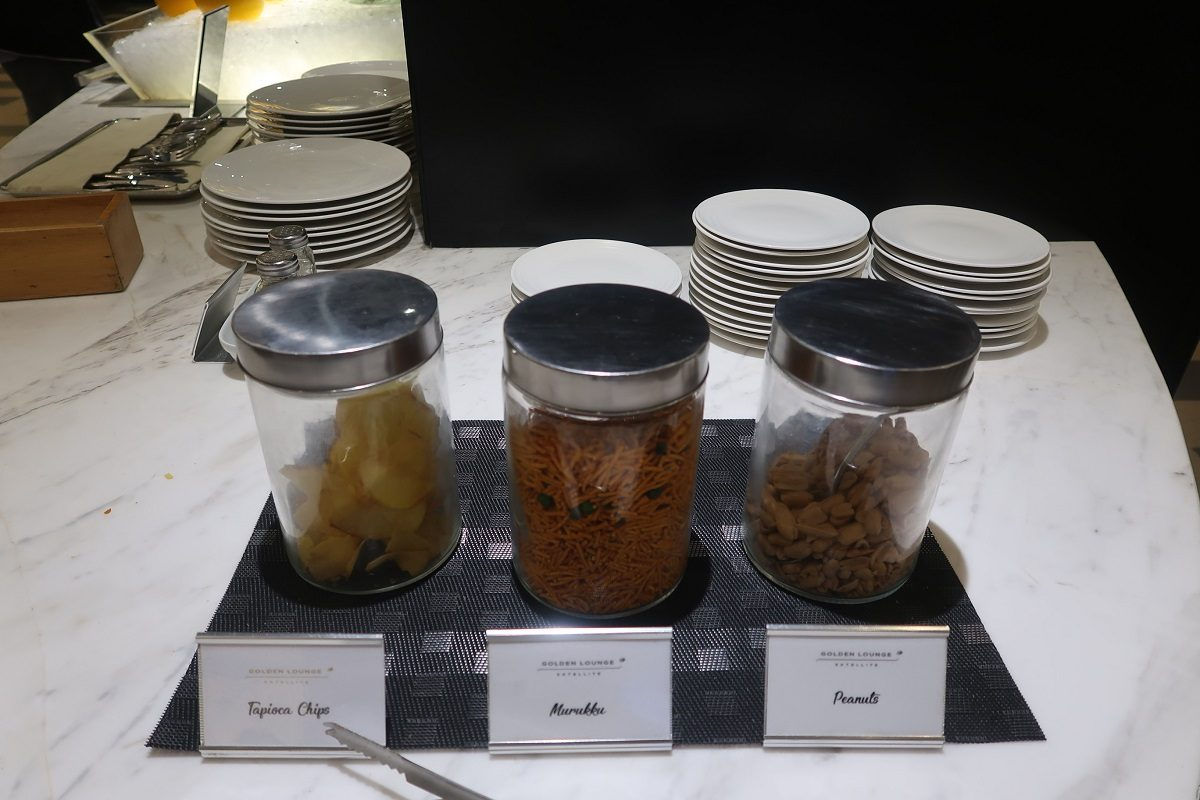 Malaysia Airlines KL Golden Lounge Satellite Terminal food nibbles