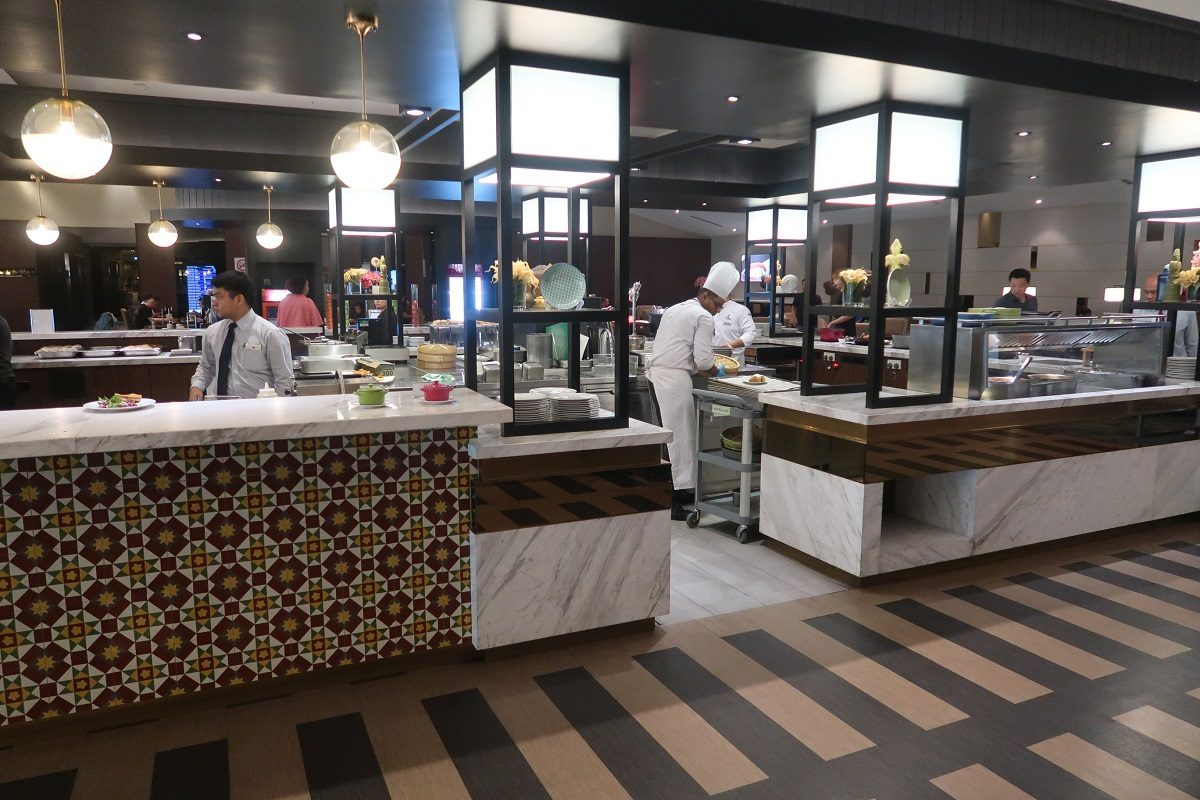 Malaysia Airlines KL Golden Lounge Satellite Terminal main food station