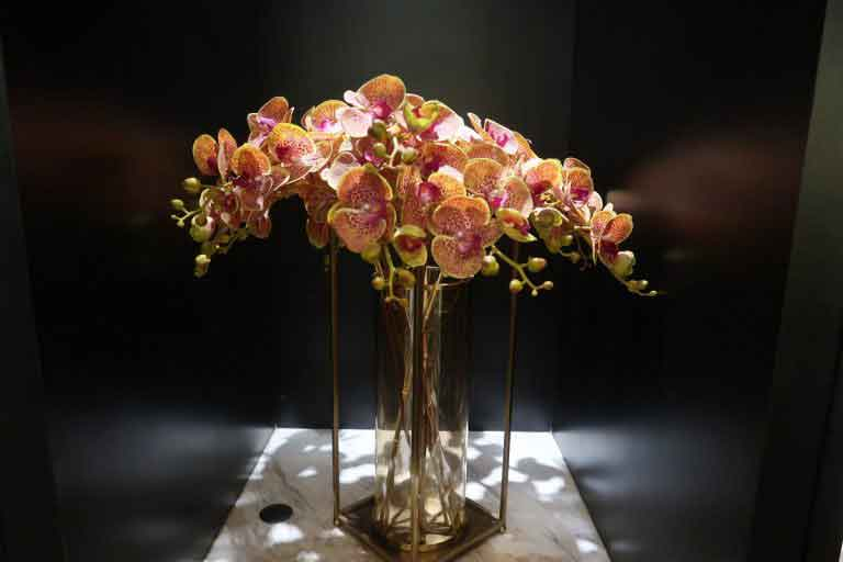 Malaysia Airlines KL Golden Lounge Satellite Terminal orchids