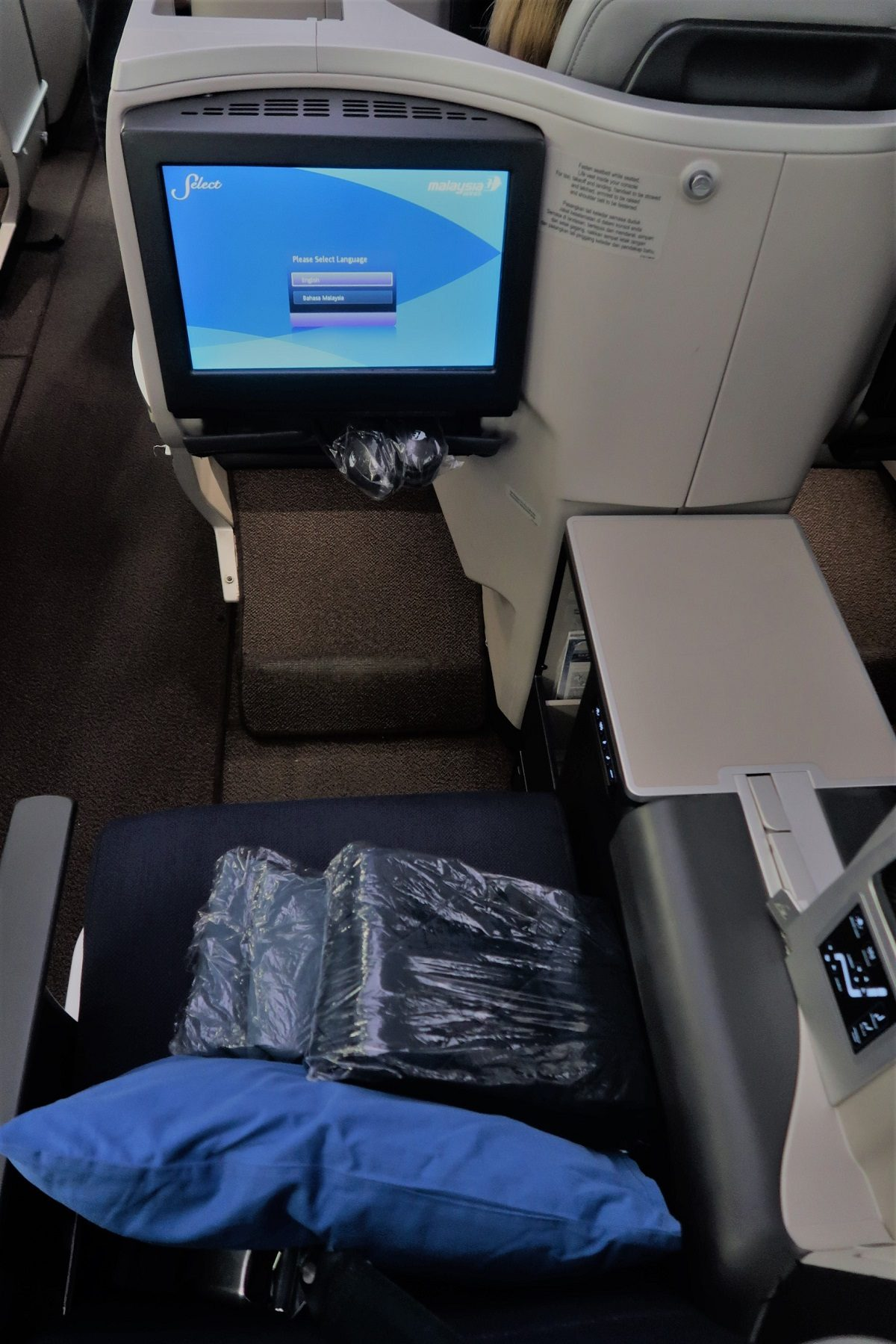 Malaysia Airlines Business Class KUL to ADE pic 5D seat