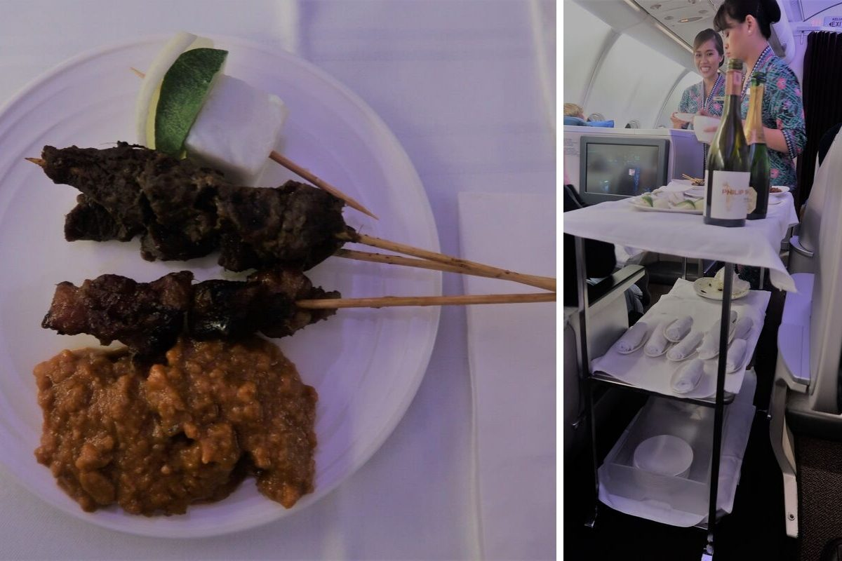 Malaysia Airlines Business Class KUL to ADE pic satay montage
