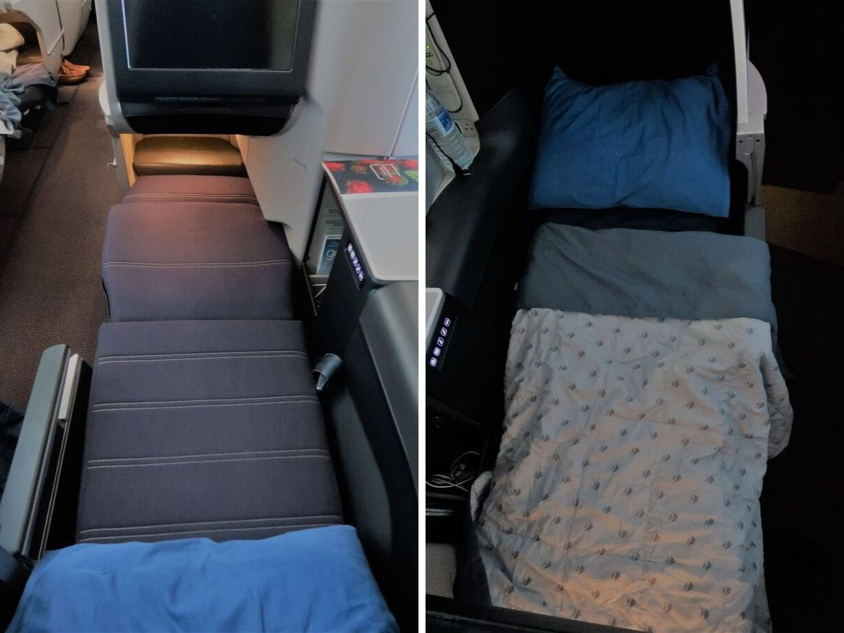 Malaysia Airlines Business Class KUL to ADE pic beds
