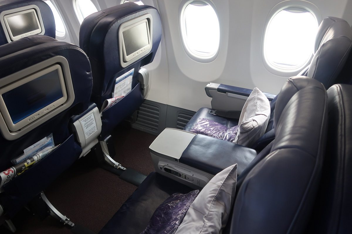 Malaysia Airlines business class SIN to KUL row 4