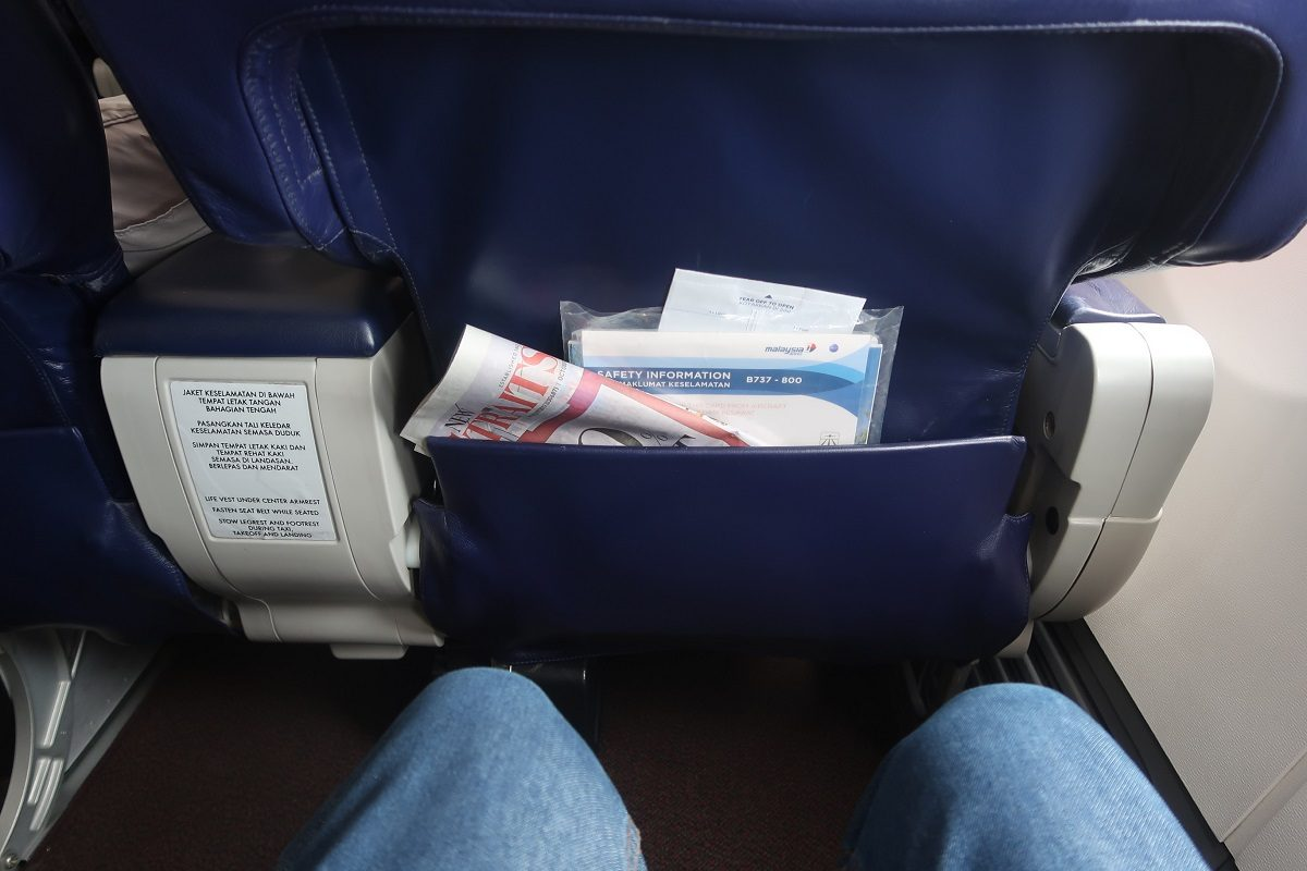 Malaysia Airlines business class SIN to KUL legroom galore