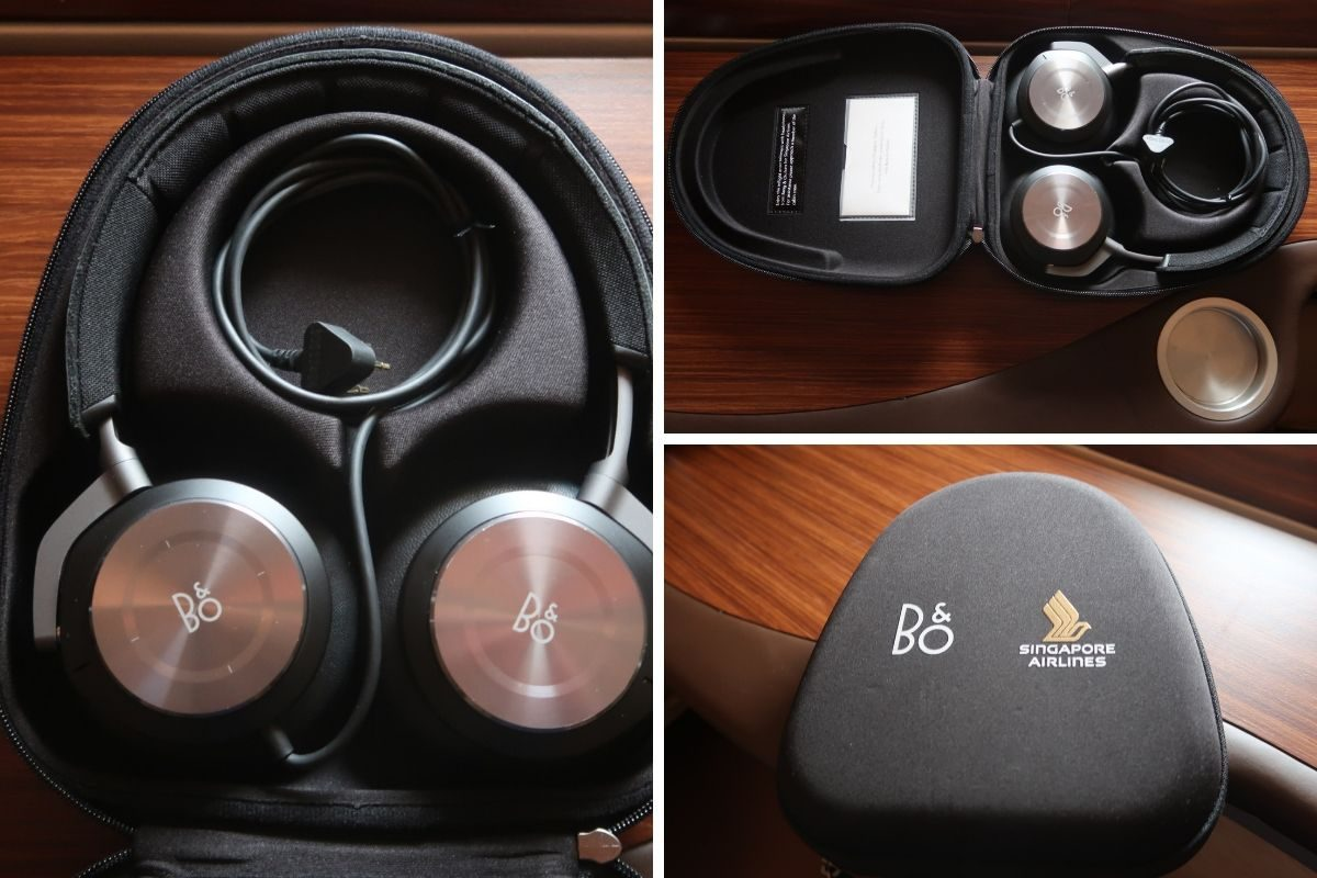 Singapore Airlines old A380 First Class Suite bose headphones