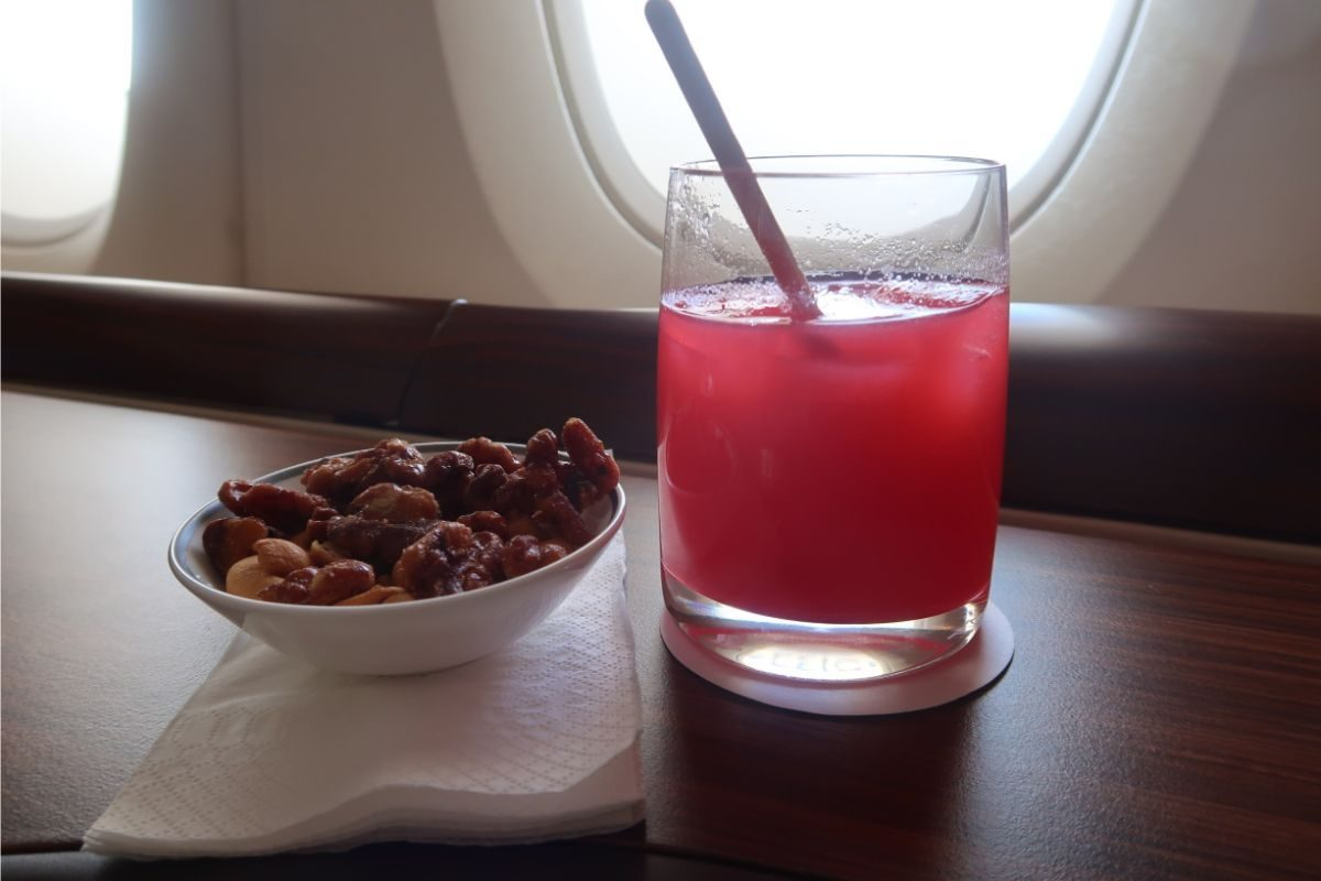 Singapore Airlines old A380 First Class Suite Singapore Sling