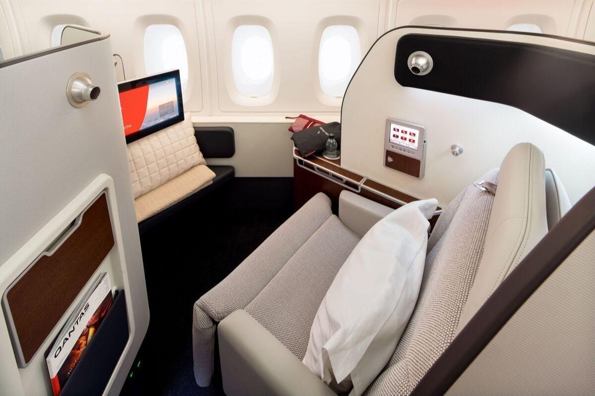 qantas a380 refurbished first class