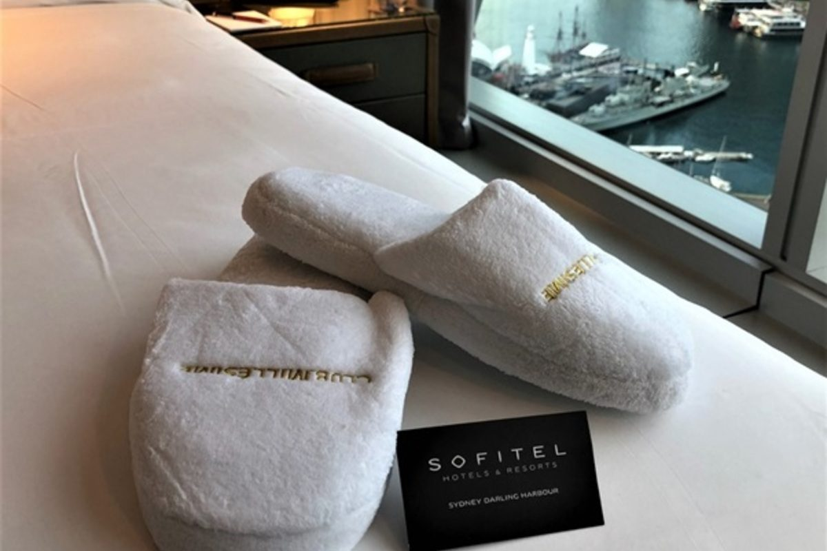 accor plus sofitel bed and slippers