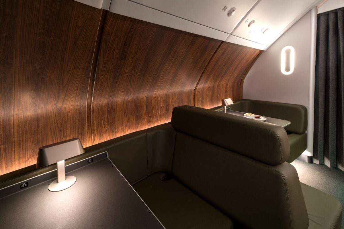 qantas refurbished a380 onboard lounge