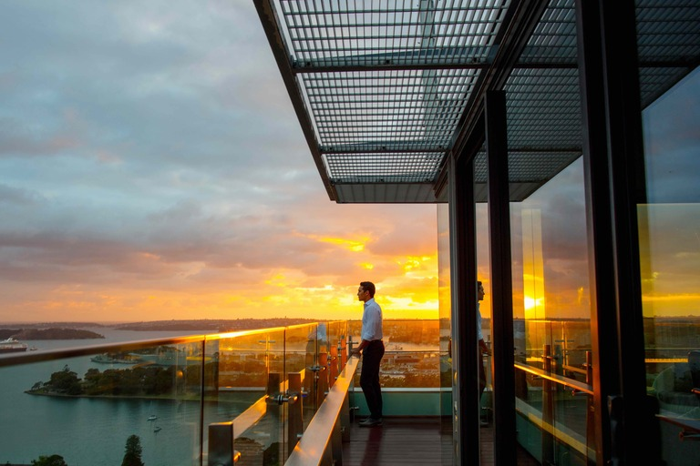 IHG Sydney Intercontinental Rooftop Bar sunset view feature