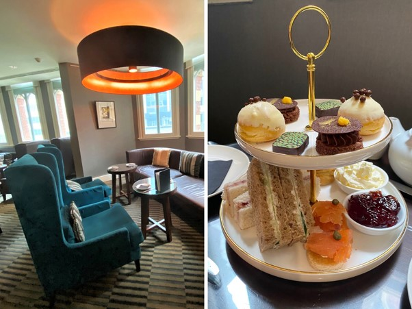 Intercontinental Melbourne The Rialto club lounge high tea montage