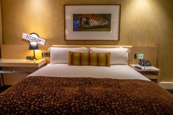Intercontinental Melbourne The Rialto fitzroy suite bedroom closeup