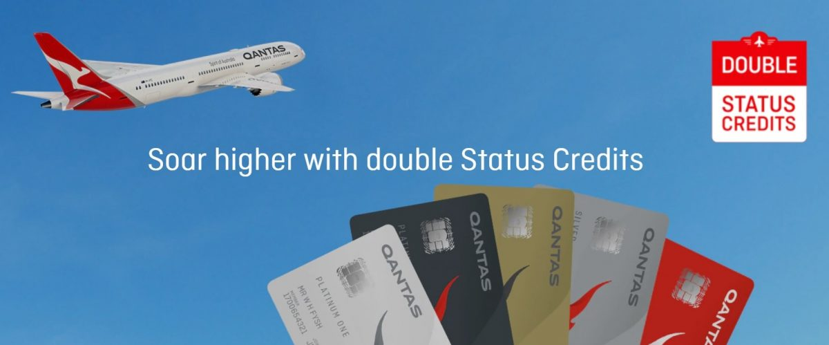 Soar higher with Qantas Double Status Credits