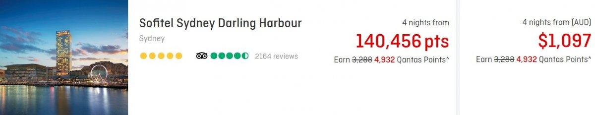 Qantas Business Rewards sofitel sydney darling harbour