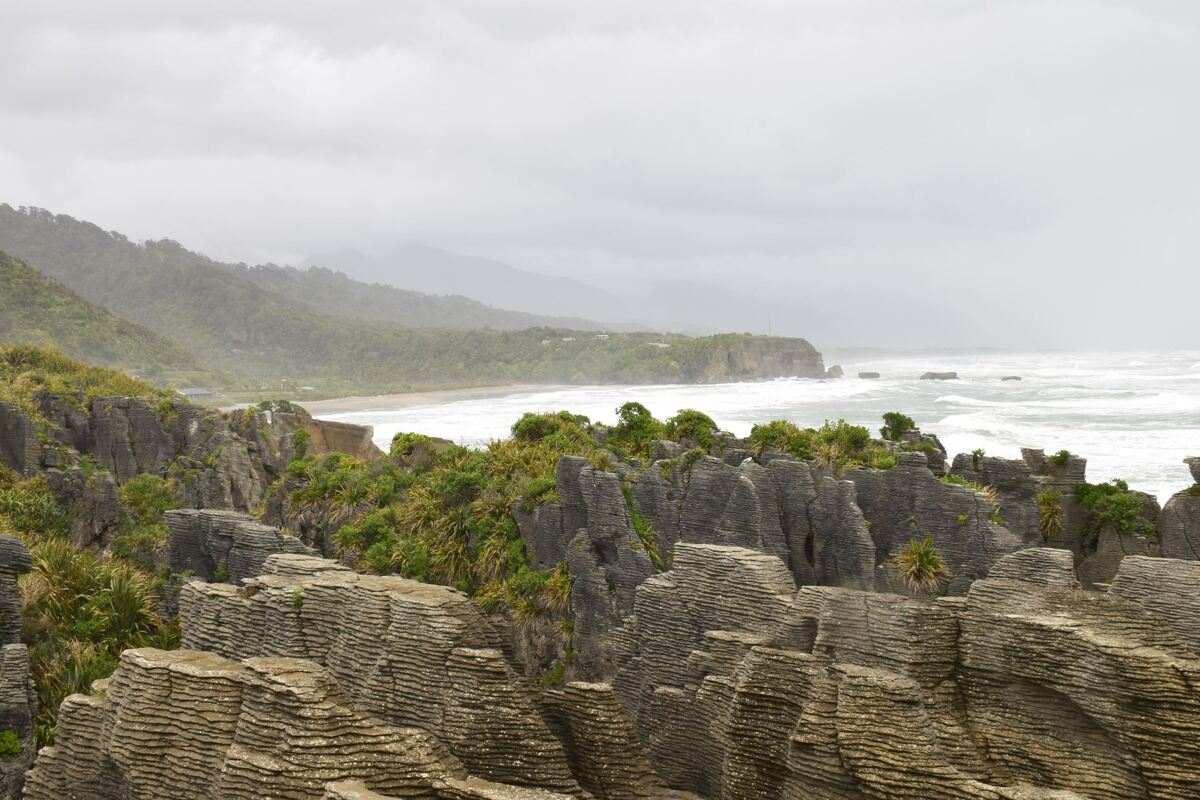 pancake rocks wild west coast south island new zealand