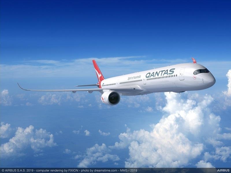 qantas a350 artist rendition project sunrise