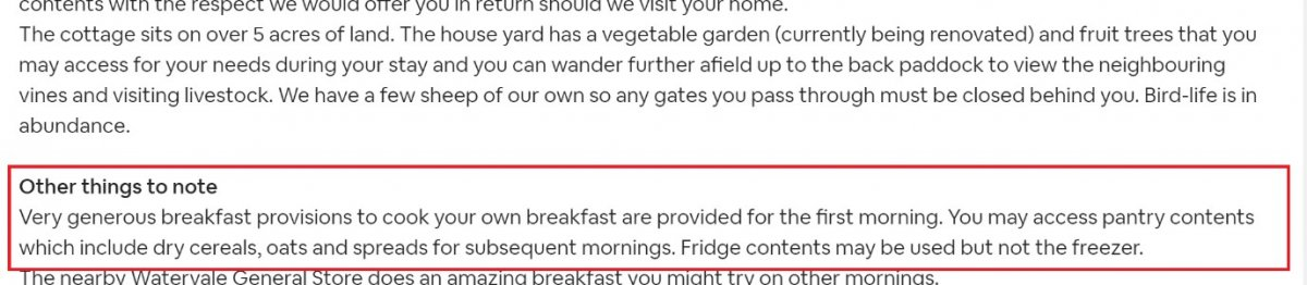 airbnb notes