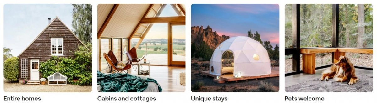 airbnb property options