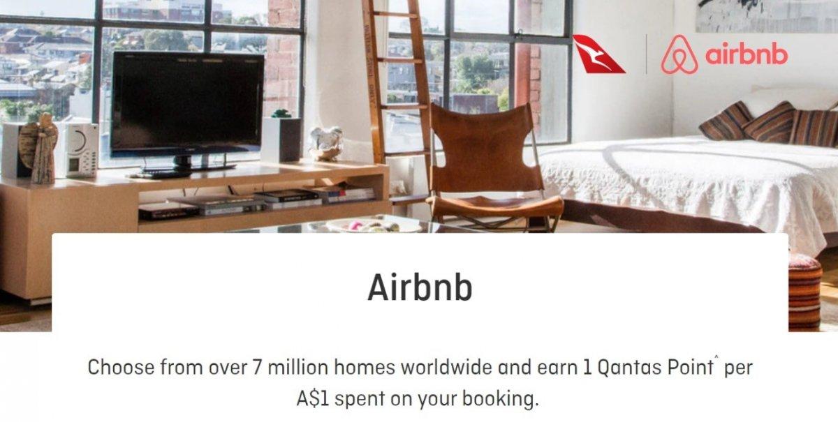 airbnb qantas points