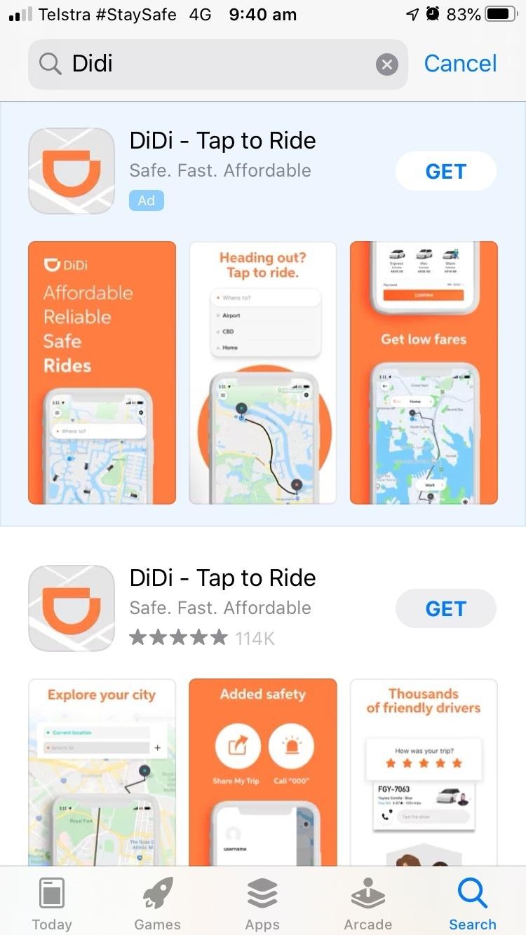 DiDi download mobile app