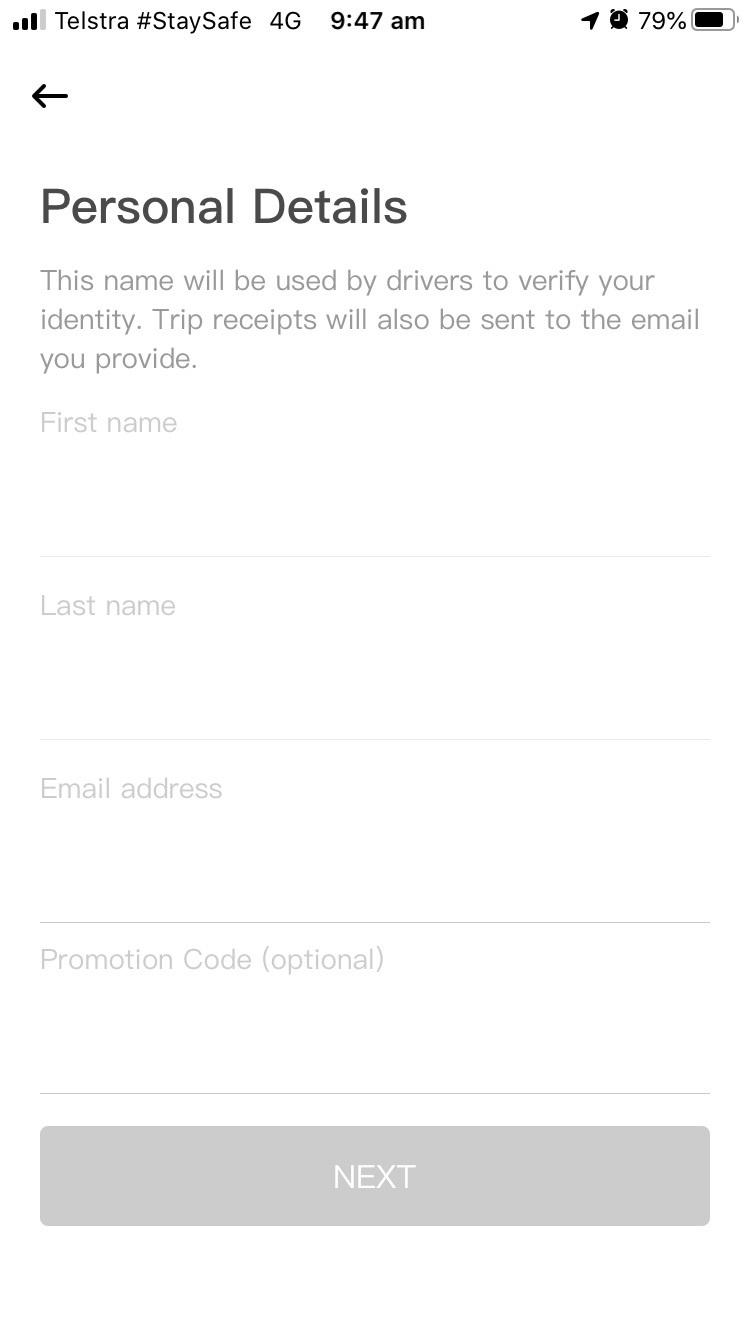 DiDi personal details