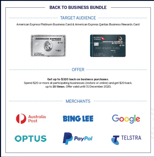 back to business bundle multi-merchant offer