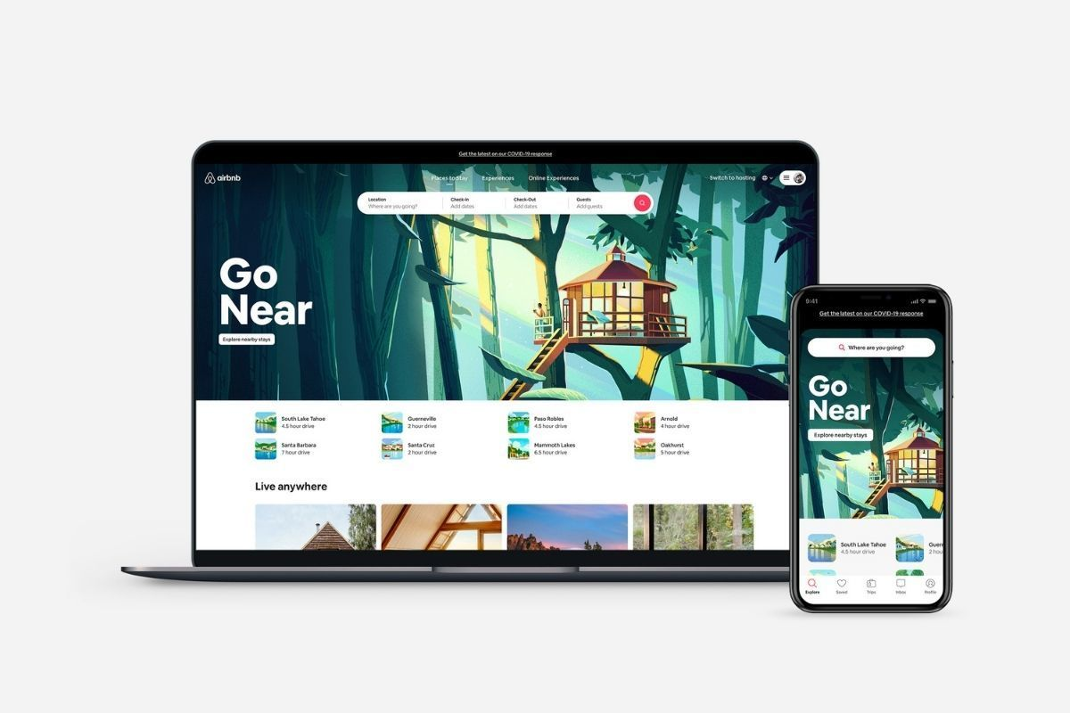 airbnb website and app