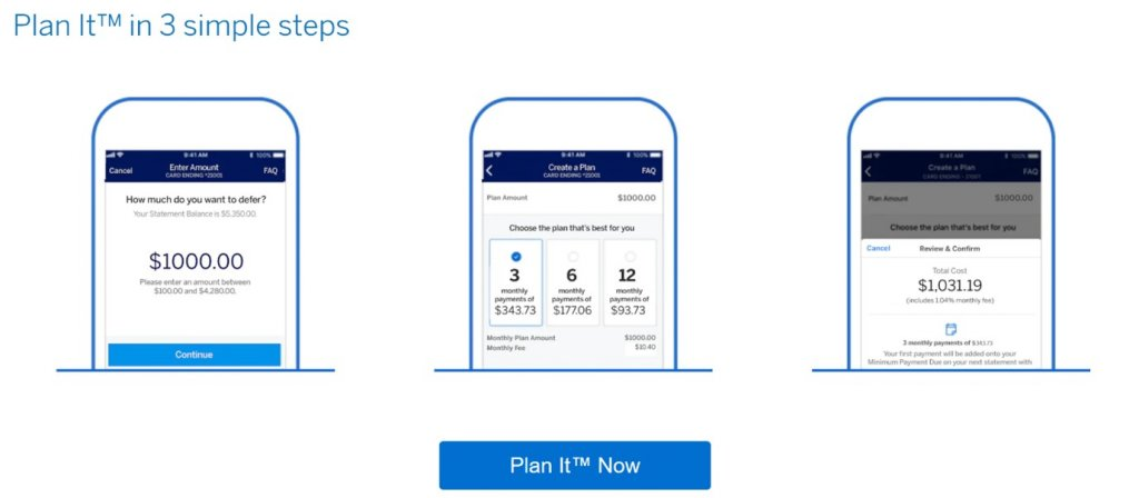 amex plan it in 3 simple steps