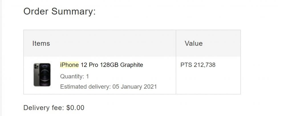 iPhone 12 Pro 128GB Graphite Qantas Points