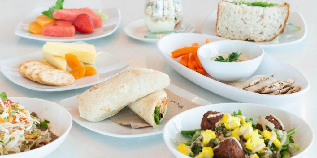 Virgin Australia Lounge Adelaide cold food menu