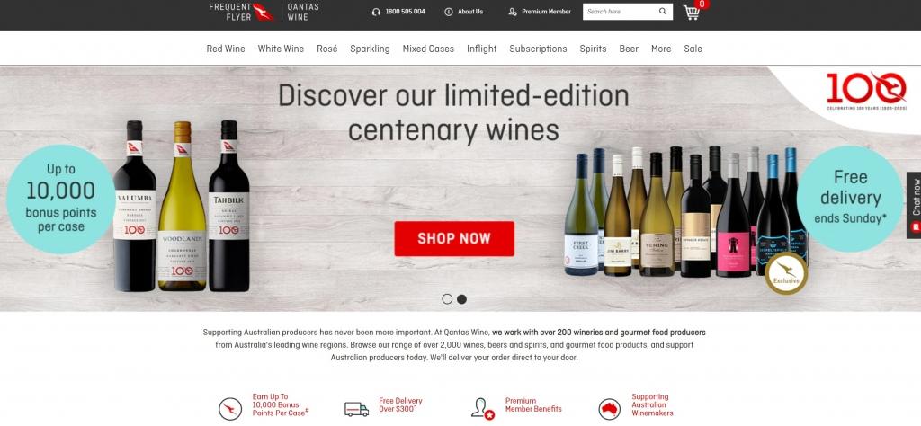 qantas wine earn qantas points